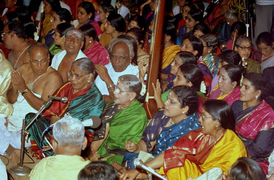 Tyagaraja Aradhana 1985- Courtesy ' The Hindu'